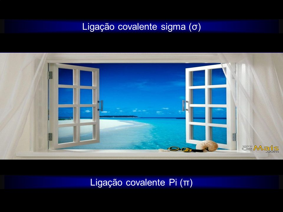 Ligação covalente sigma (σ) Ligação covalente Pi (π)