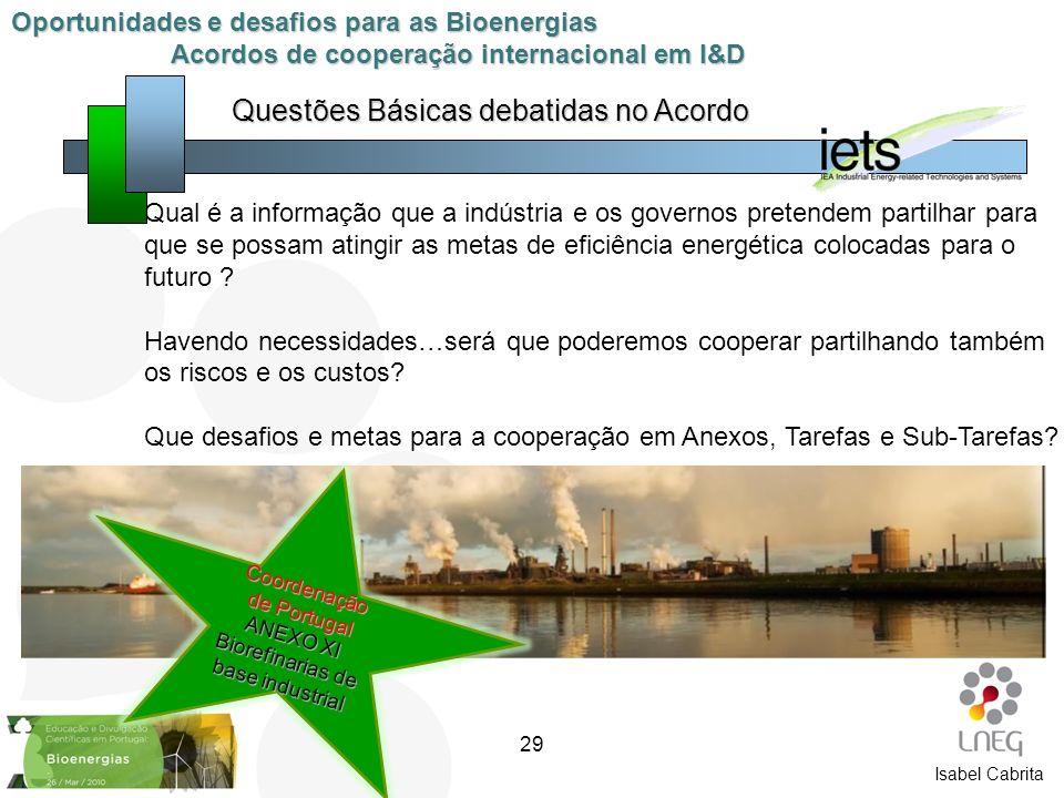 Qual é a informação que a indústria e os governos pretendem partilhar para que se possam atingir as metas de eficiência energética colocadas para o fu
