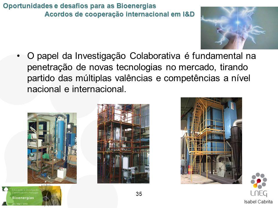 Isabel Cabrita O papel da Investigação Colaborativa é fundamental na penetração de novas tecnologias no mercado, tirando partido das múltiplas valênci
