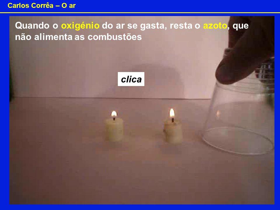 Carlos Corrêa – O ar O oxigénio O 2 - dioxigénio O 3 - ozono Preparar O 2 .