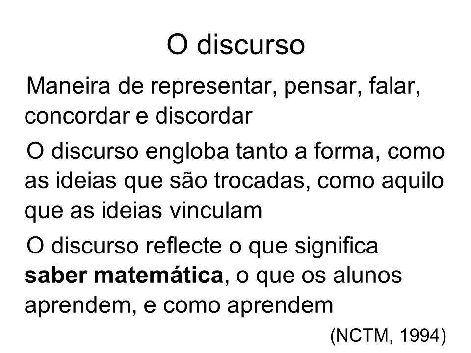 O discurso Questões que permitem caracterizar o discurso na sala de aula: Quem fala.