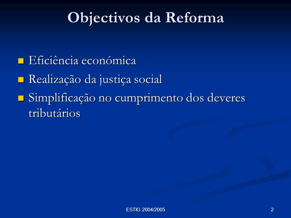 3ESTIG 2004/2005 Abolição das fronteiras fiscais na C.E.