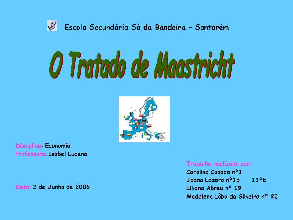 Como surgiu o tratado de Maastricht.