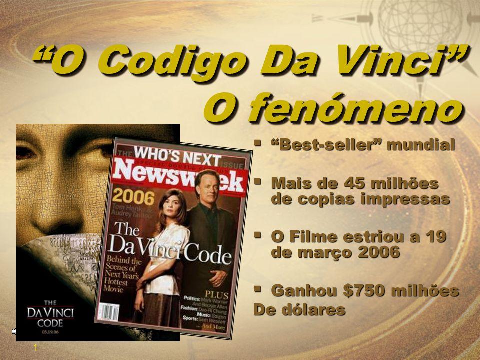 1 O Codigo Da Vinci O fenómeno Best-seller mundial Best-seller mundial Mais de 45 milhões de copias impressas Mais de 45 milhões de copias impressas O