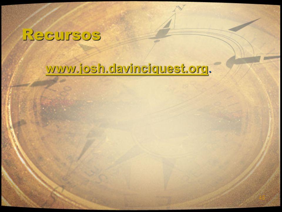 45 RecursosRecursos www.josh.davinciquest.orgwww.josh.davinciquest.org. www.josh.davinciquest.org. www.josh.davinciquest.org
