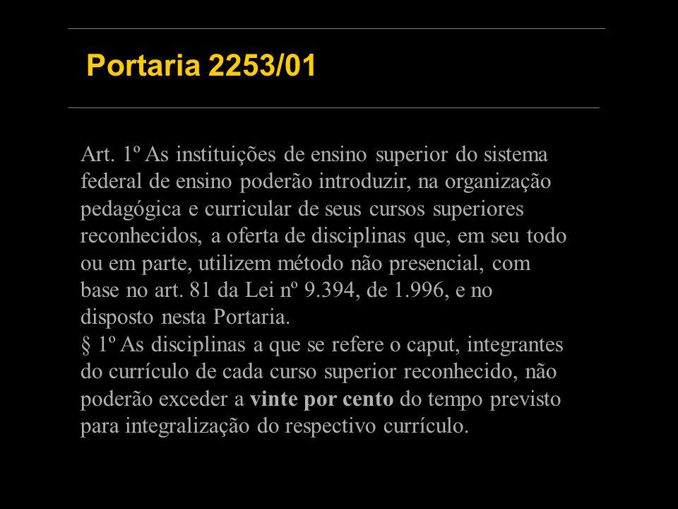 Portaria 2253/01 Art.
