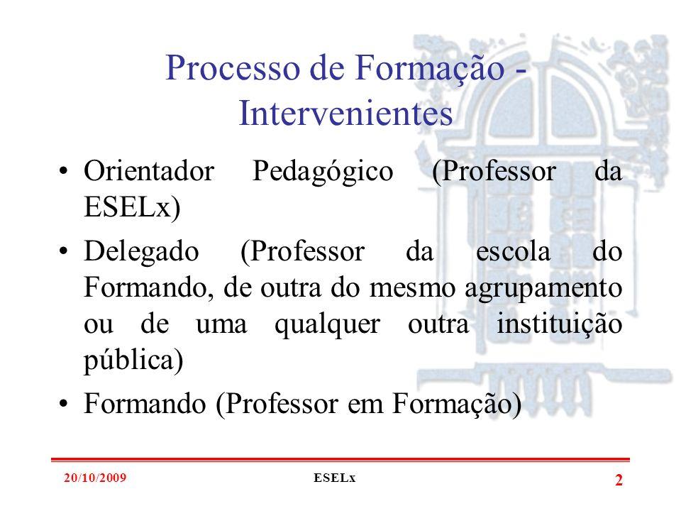 20/10/2009ESELx 1 EscolaSuperior de Educação de Lisboa aalmeida@eselx.ipl.pt Profissionalização em Serviço Ano lectivo 2009 / 2010 (2º Ano – Reunião c