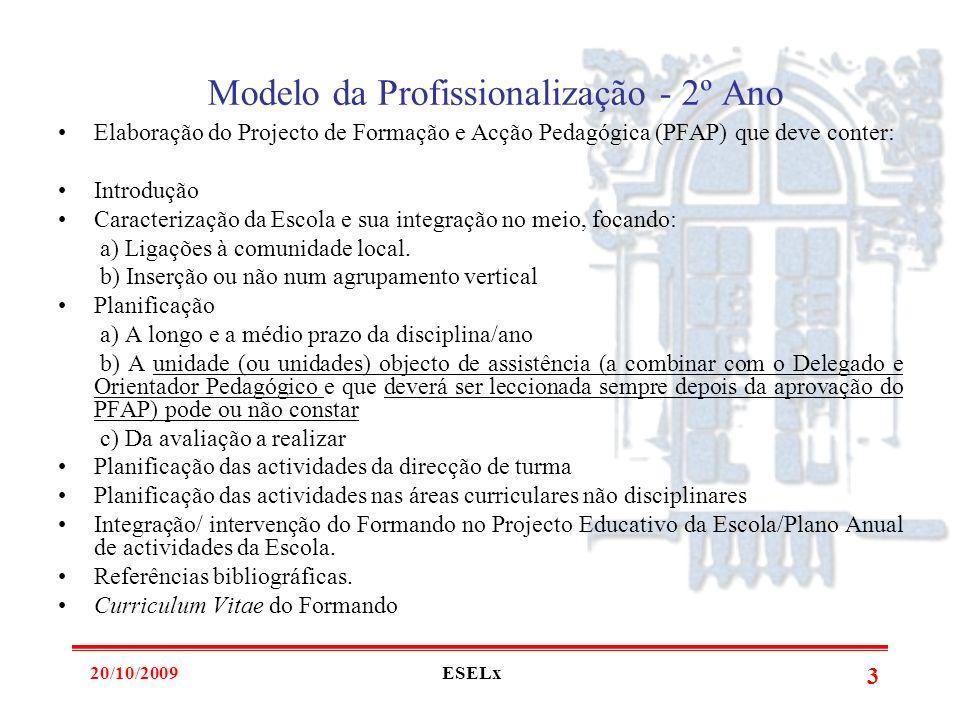 20/10/2009ESELx 2 Processo de Formação - Intervenientes Orientador Pedagógico (Professor da ESELx) Delegado (Professor da escola do Formando, de outra