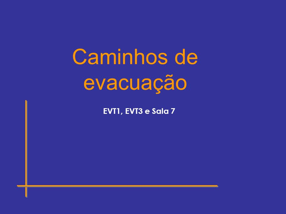 EVT1, EVT3 e Sala 7 Caminhos de evacuação
