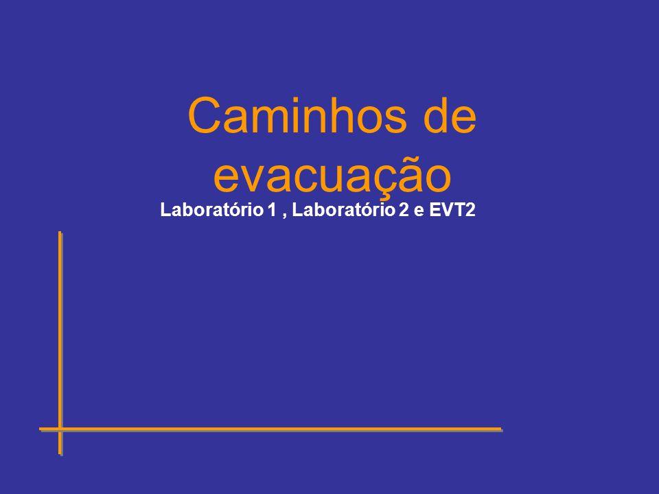 Laboratório 1, Laboratório 2 e EVT2 Caminhos de evacuação