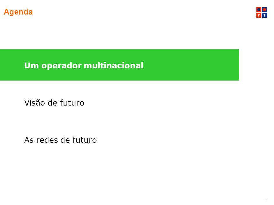 1 Agenda Um operador multinacional Visão de futuro As redes de futuro