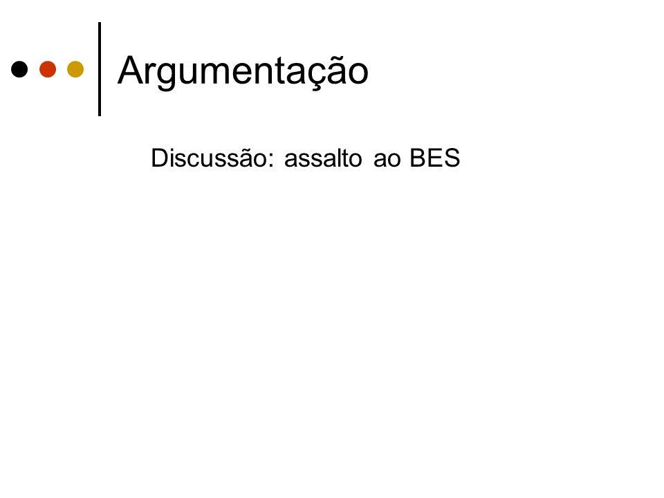 Argumentação Discussão: assalto ao BES