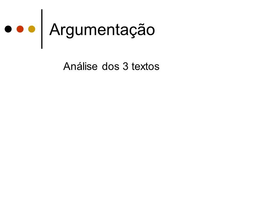 Argumentação Análise dos 3 textos