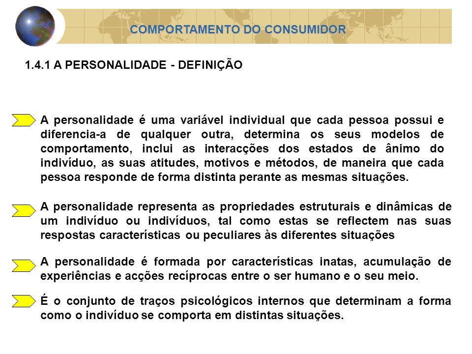 A personalidade é uma variável individual que cada pessoa possui e diferencia-a de qualquer outra, determina os seus modelos de comportamento, inclui