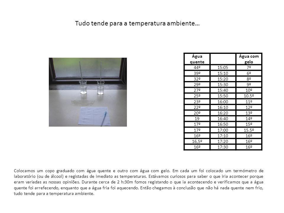 Experiências com Sensores de Temperatura Ligamos dois sensores de temperatura ao computador.