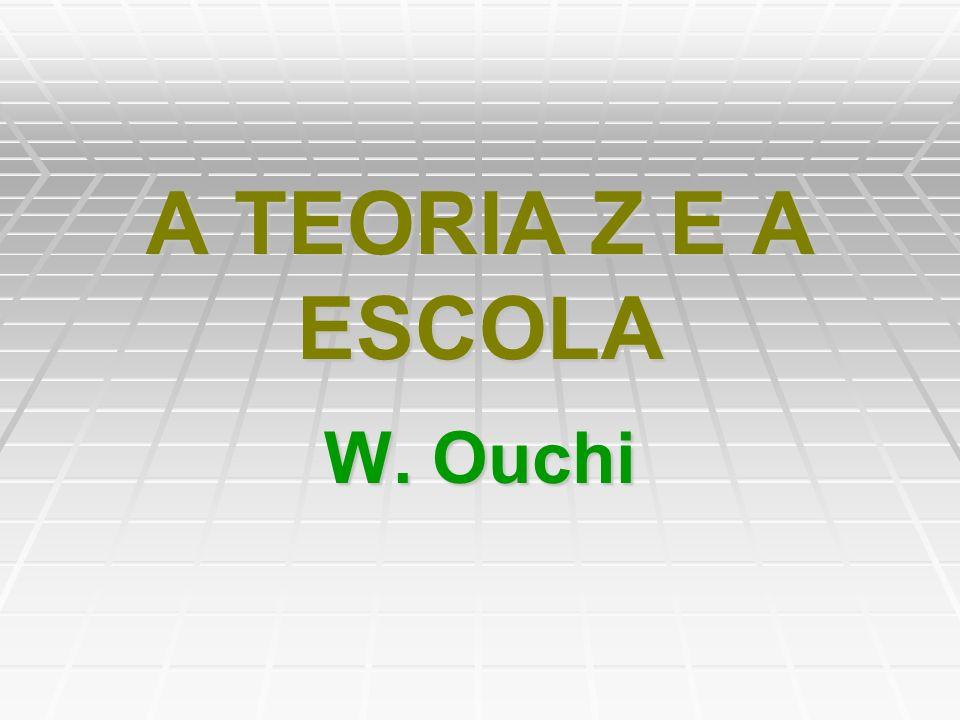 A TEORIA Z E A ESCOLA W. Ouchi