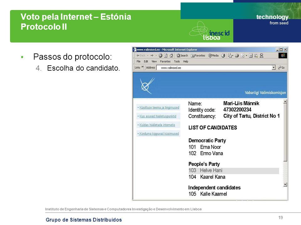 Instituto de Engenharia de Sistemas e Computadores Investigação e Desenvolvimento em Lisboa technology from seed Grupo de Sistemas Distribuídos 19 Vot