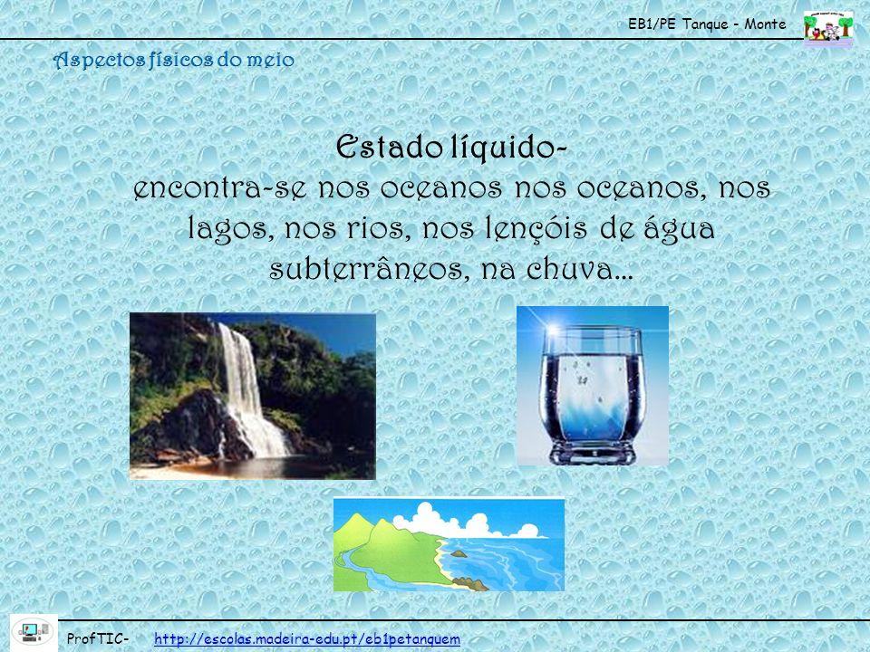 EB1/PE Tanque - Monte ProfTIC- http://escolas.madeira-edu.pt/eb1petanquemhttp://escolas.madeira-edu.pt/eb1petanquem Chuva É a precipitação de água das nuvens no estado líquido.