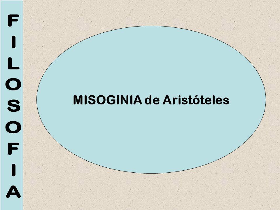 MISOGINIA de Aristóteles