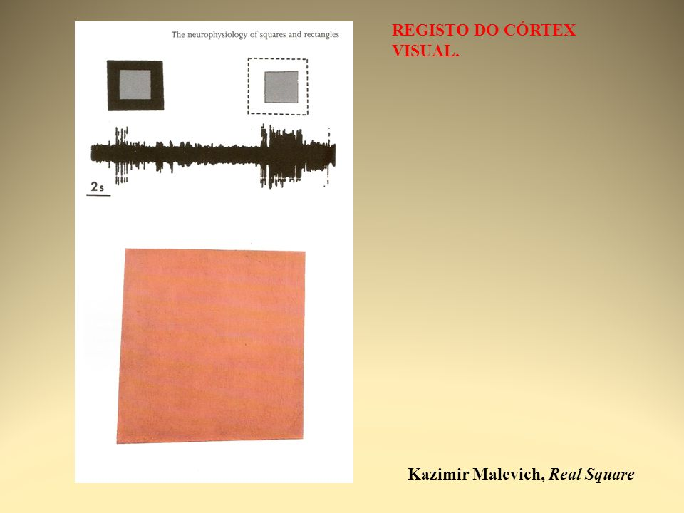 Kazimir Malevich, Real Square REGISTO DO CÓRTEX VISUAL.