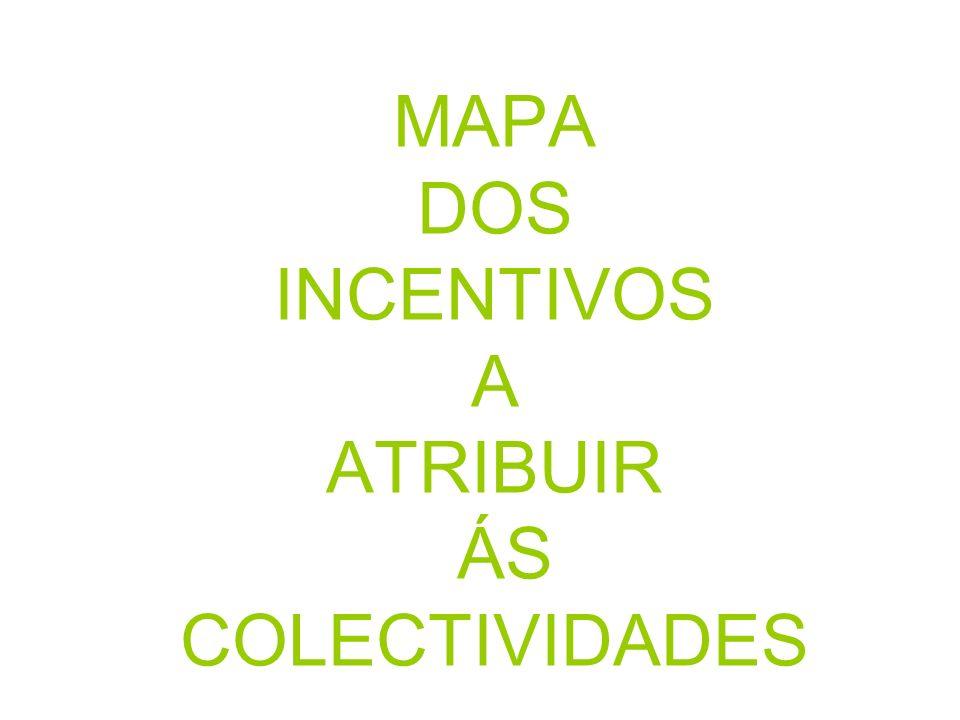 MAPA DOS INCENTIVOS A ATRIBUIR ÁS COLECTIVIDADES