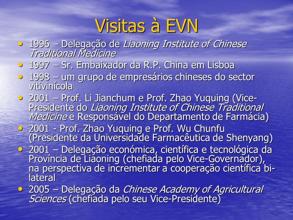 Visitas à EVN 1996 – Delegação de Liaoning Institute of Chinese Traditional Medicine 1996 – Delegação de Liaoning Institute of Chinese Traditional Med