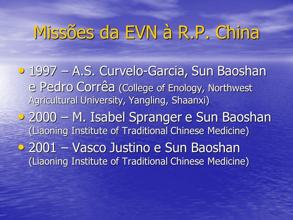 Missões da EVN à R.P. China 1997 – A.S. Curvelo-Garcia, Sun Baoshan e Pedro Corrêa (College of Enology, Northwest Agricultural University, Yangling, S