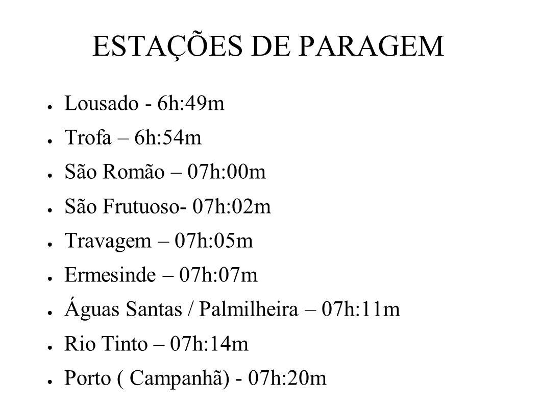 ESTAÇÃO DE CHEGADA Lisboa Oriente – 11h:17m