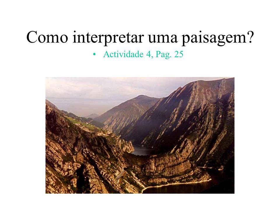 Como interpretar uma paisagem? Actividade 4, Pag. 25
