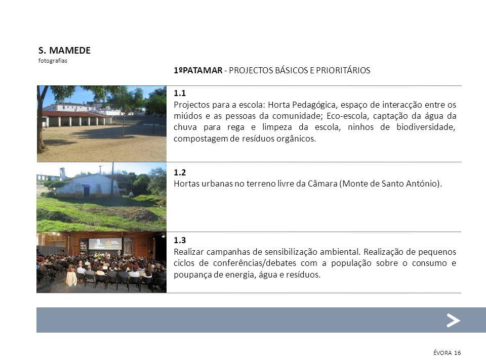S. MAMEDE fotografias 1ºPATAMAR - PROJECTOS BÁSICOS E PRIORITÁRIOS 1.1 Projectos para a escola: Horta Pedagógica, espaço de interacção entre os miúdos