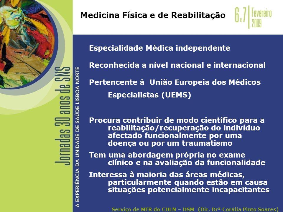 Especialidade Médica independente Reconhecida a nível nacional e internacional Pertencente à União Europeia dos Médicos Especialistas (UEMS) Procura c