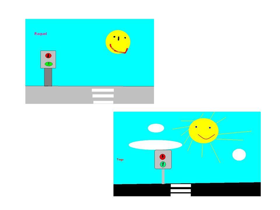 Objectivos da 4ª visita Realizar um desenho no Paint, tendo por base o desenho realizado pelo Formador, sobre sinais de trânsito luminosos;