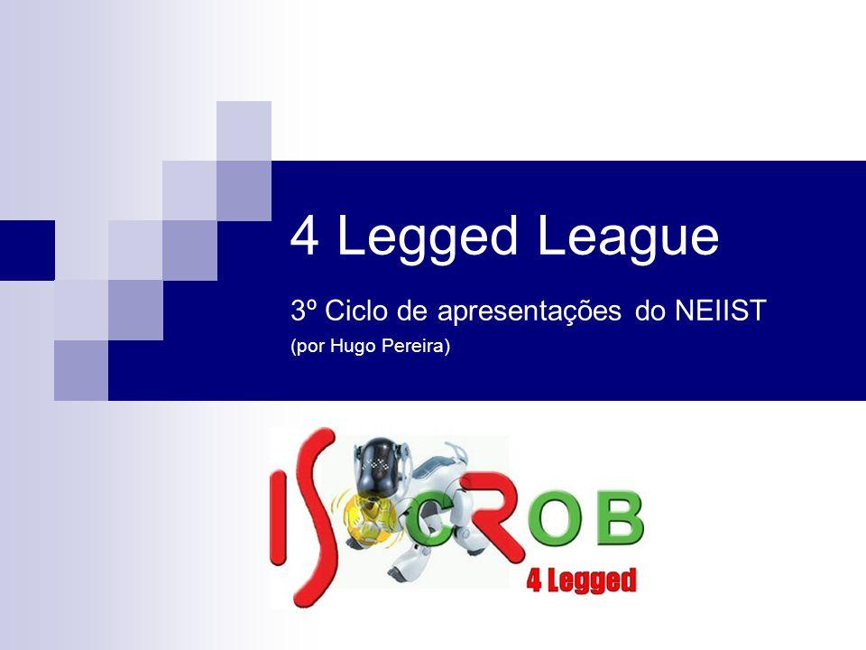 4 Legged League 3º Ciclo de apresentações do NEIIST (por Hugo Pereira)