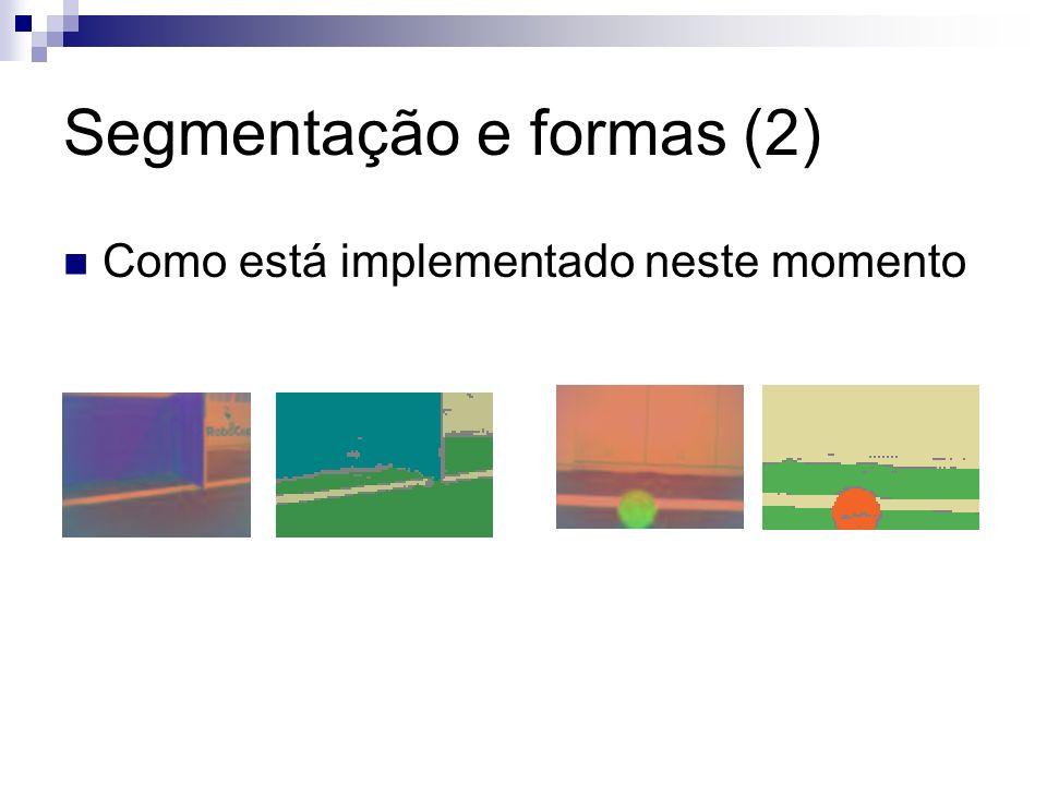 Segmentação e formas (2) Como está implementado neste momento