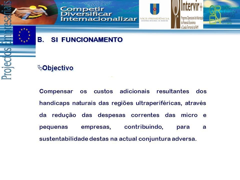 Objectivo Compensar os custos adicionais resultantes dos handicaps naturais das regiões ultraperiféricas, através da redução das despesas correntes da