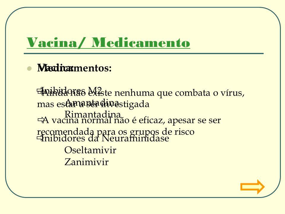 Vacina: Ainda não existe nenhuma que combata o vírus, mas estar a ser investigada A vacina normal não é eficaz, apesar se ser recomendada para os grup