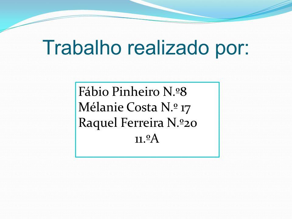 Trabalho realizado por: Fábio Pinheiro N.º8 Mélanie Costa N.º 17 Raquel Ferreira N.º20 11.ºA
