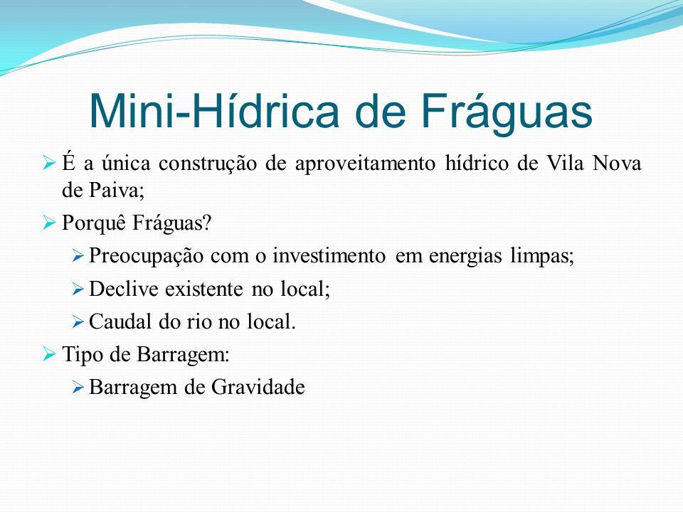 Mini-Hídrica de Fráguas É a única construção de aproveitamento hídrico de Vila Nova de Paiva; Porquê Fráguas? Preocupação com o investimento em energi