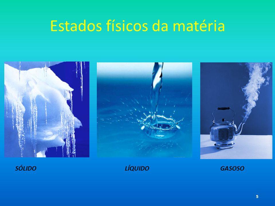 Estados físicos da matéria SÓLIDO LÍQUIDO GASOSO 5