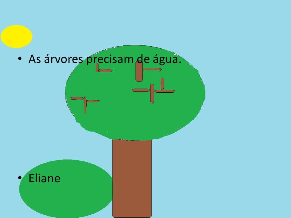 As árvores precisam de água. Eliane