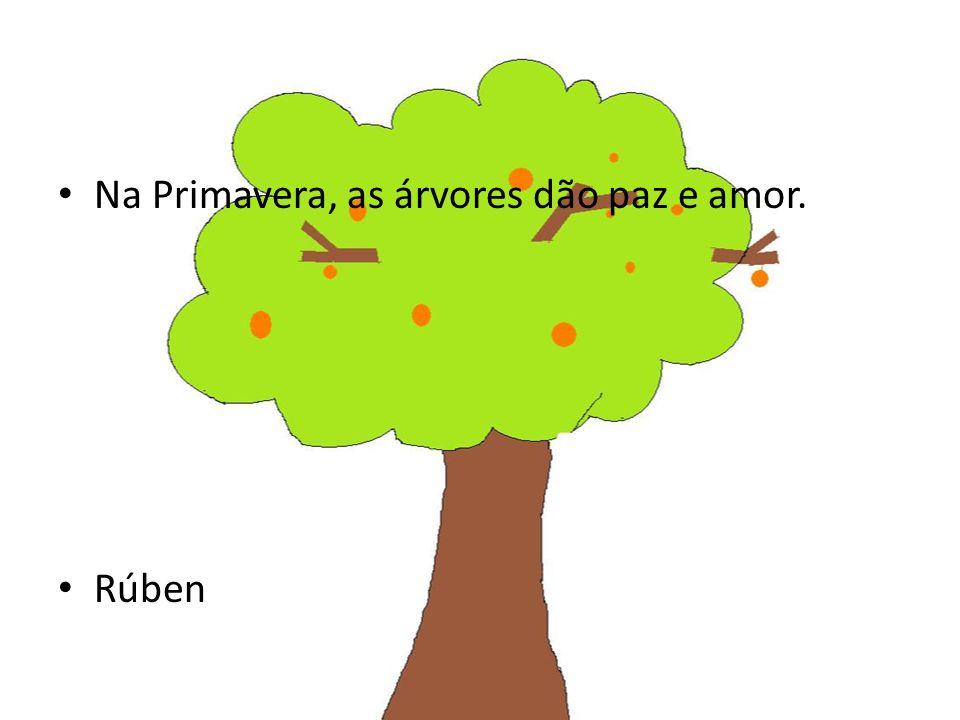 Na Primavera, as árvores dão paz e amor. Rúben