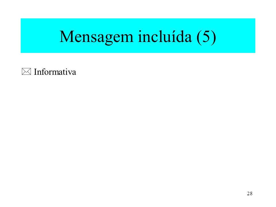 28 Mensagem incluída (5) Informativa