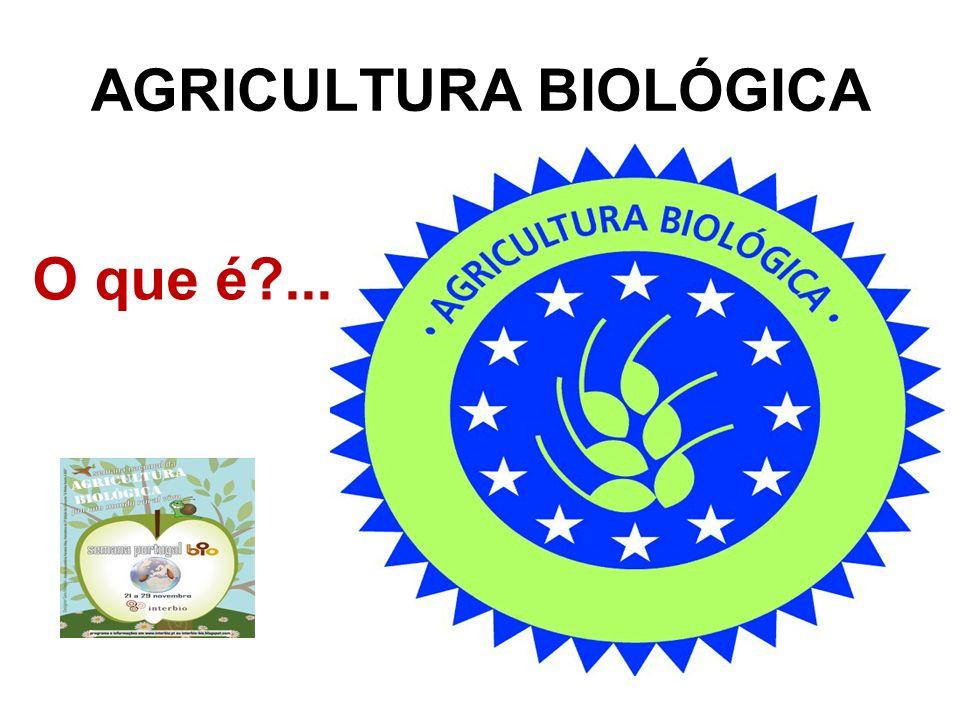AGRICULTURA BIOLÓGICA O que é?...