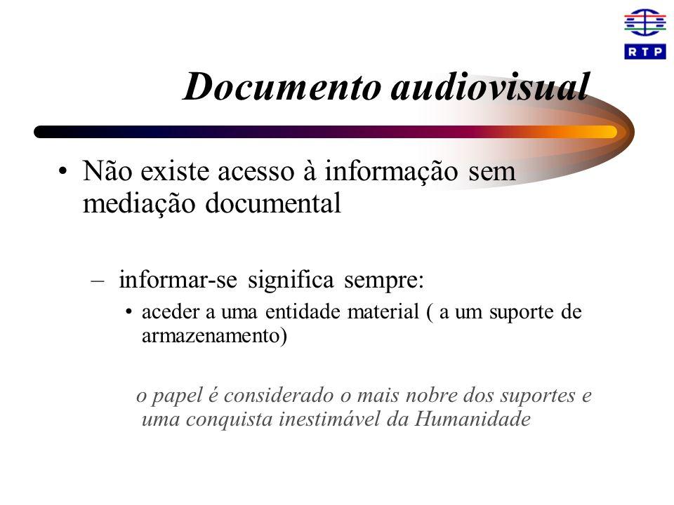 Não existe acesso à informação sem mediação documental – informar-se significa sempre: aceder a uma entidade material ( a um suporte de armazenamento)