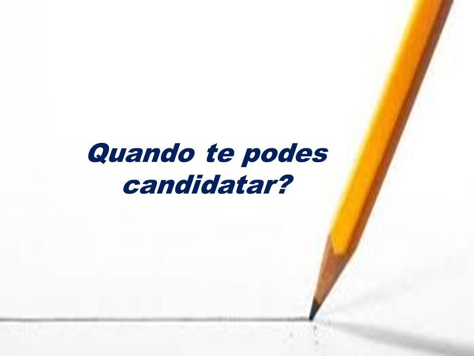 Quando te podes candidatar?