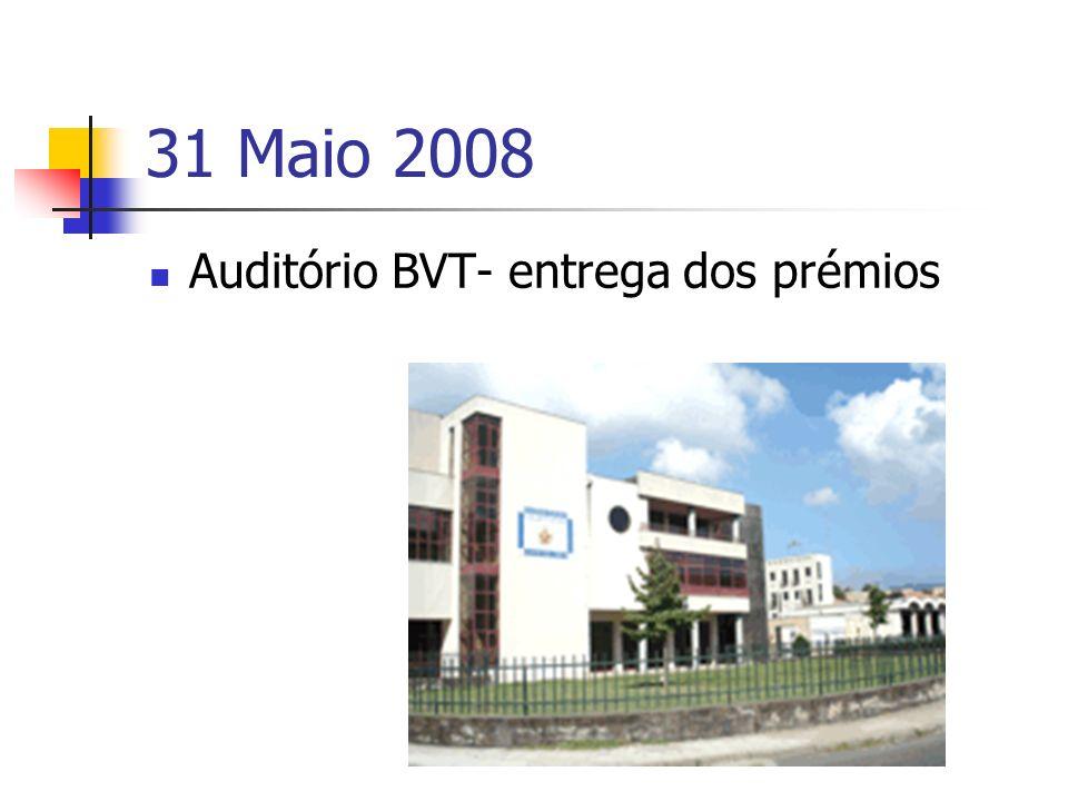 31 Maio 2008 Auditório BVT- entrega dos prémios
