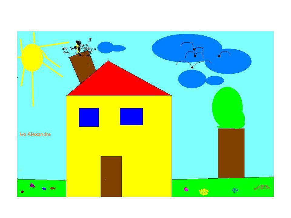 Objectivos da 2ª visita Realizar um desenho no Paint, tendo por base o desenho realizado pelo Formador, sobre a poluição do ar; Praticar novas valências, praticando, igualmente, as que aprendeu na visita anterior.