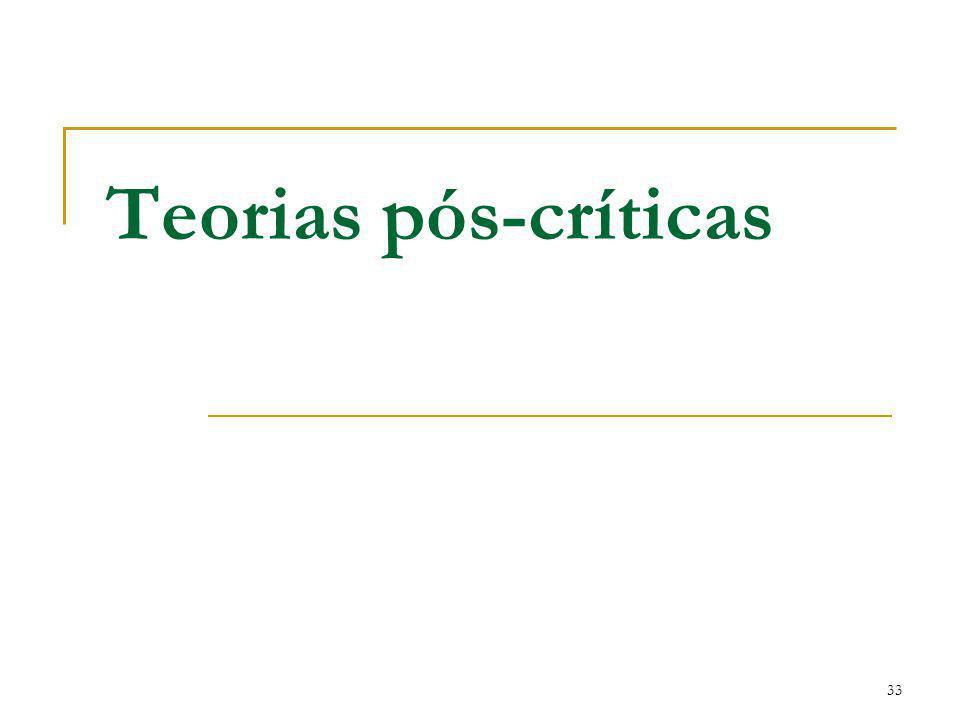 33 Teorias pós-críticas