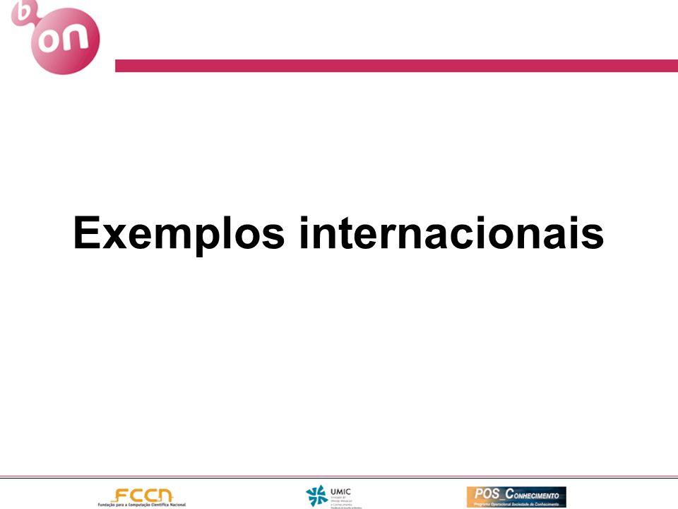 Exemplos internacionais