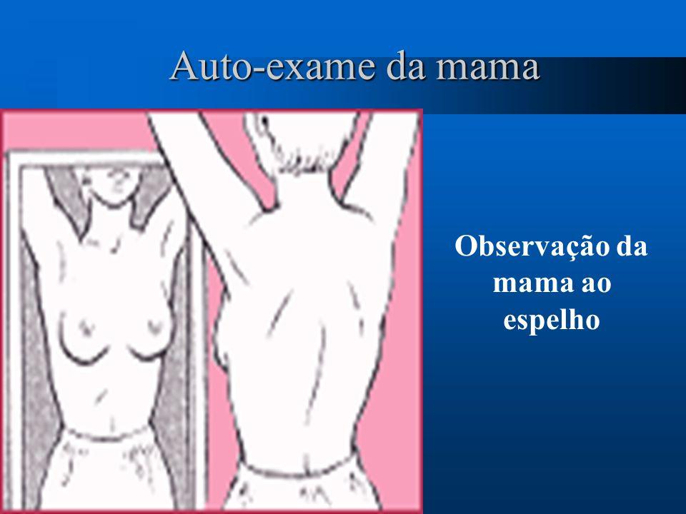 Auto-exame da mama Observação da mama ao espelho